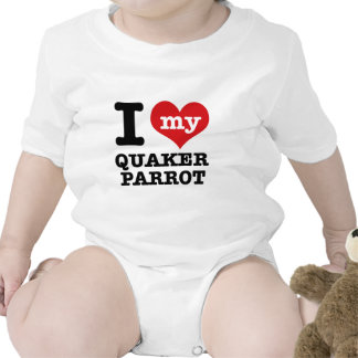 I Love quaker parrot Baby Bodysuit
