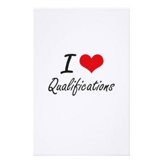 I Love Qualifications Stationery