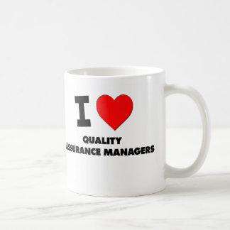 I Love Quality Assurance Managers Classic White Coffee Mug