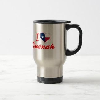 I Love Quanah, Texas Coffee Mug