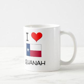 I Love Quanah Texas Coffee Mug