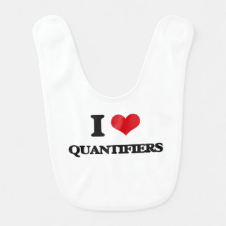 I Love Quantifiers Bibs