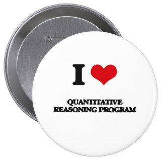 I Love Quantitative Reasoning Program 4 Inch Round Button