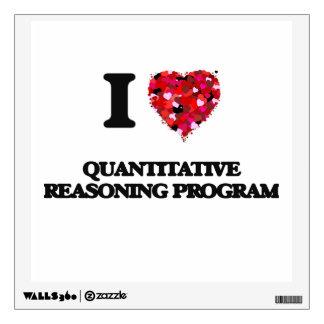 I Love Quantitative Reasoning Program Wall Graphic