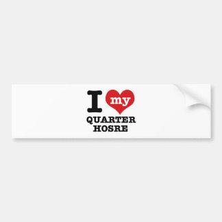 I Love quarter Horse Car Bumper Sticker
