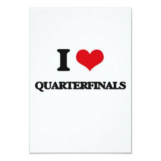 I Love Quarterfinals 3.5x5 Paper Invitation Card