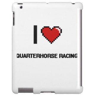I Love Quarterhorse Racing Digital Retro Design