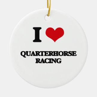 I Love Quarterhorse Racing Christmas Tree Ornament