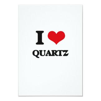 I Love Quartz 3.5x5 Paper Invitation Card