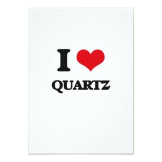 I Love Quartz 5x7 Paper Invitation Card