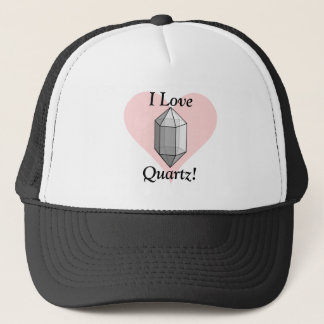 I Love Quartz! Print Trucker Hat