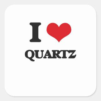 I Love Quartz Square Sticker
