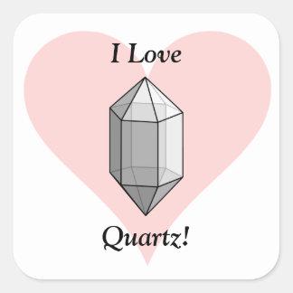 I Love Quartz! Stickers