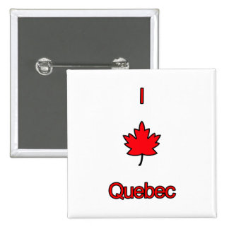 I Love Quebec 2 Inch Square Button