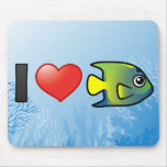 I Love Queen Angelfish Mouse Pad