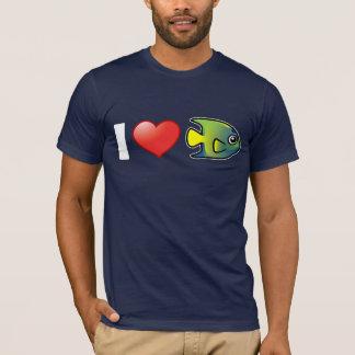 I Love Queen Angelfish T-Shirt