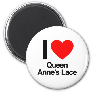 i love queen anne s lace refrigerator magnet