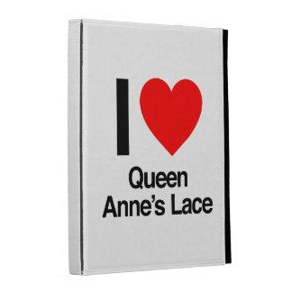i love queen anne's lace iPad folio covers