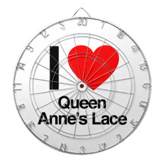i love queen anne's lace dartboard with darts