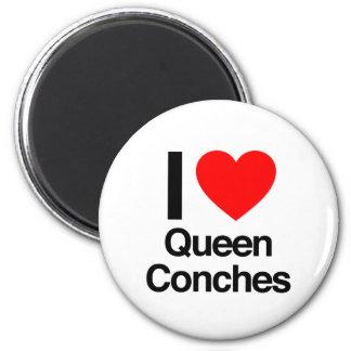 i love queen conches fridge magnet