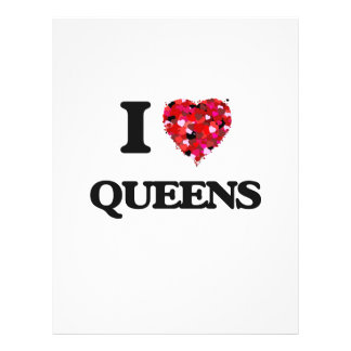 """I love Queens 8.5"""" X 11"""" Flyer"""