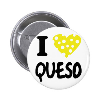 I love queso icon 2 inch round button