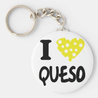 I love queso icon basic round button keychain