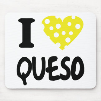I love queso icon mouse pad