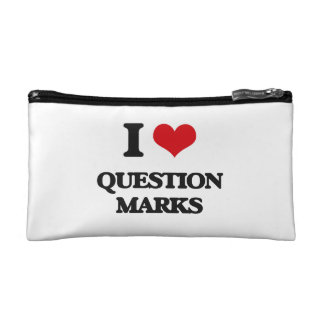 I Love Question Marks Cosmetics Bags