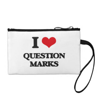 I Love Question Marks Coin Purse
