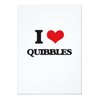 I Love Quibbles 5x7 Paper Invitation Card