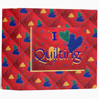 I Love Quilting Binder