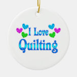 I Love Quilting Christmas Ornament