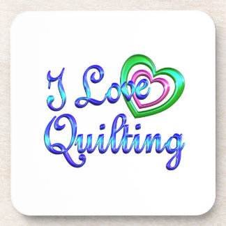 I Love Quilting Coaster