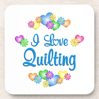 I Love Quilting Drink Coasters
