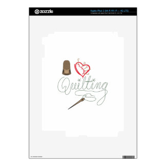 I Love Quilting Decals For iPad 3