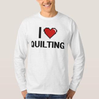 I Love Quilting Digital Retro Design T-shirts