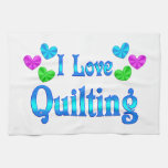 I Love Quilting Hand Towel