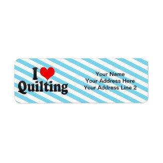 I Love Quilting Label