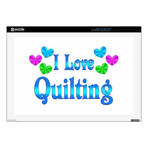 I Love Quilting Laptop Decals