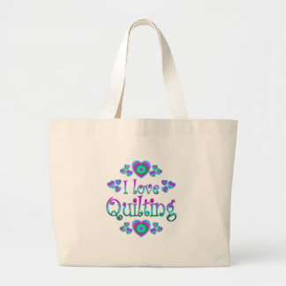 I Love Quilting Large Tote Bag