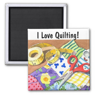 I Love Quilting Magnet
