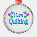 I Love Quilting Ornaments