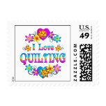I Love Quilting Postage Stamps