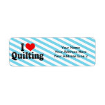 I Love Quilting Return Address Label