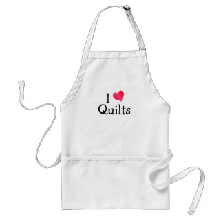 I Love Quilts Adult Apron