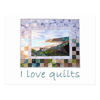 I love quilts postcard