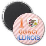 I Love Quincy, IL Fridge Magnets
