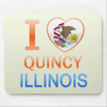I Love Quincy, IL Mouse Pad