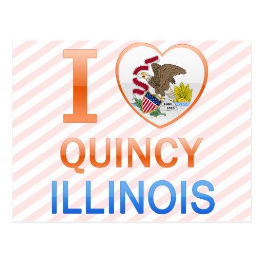 I Love Quincy, IL Postcard